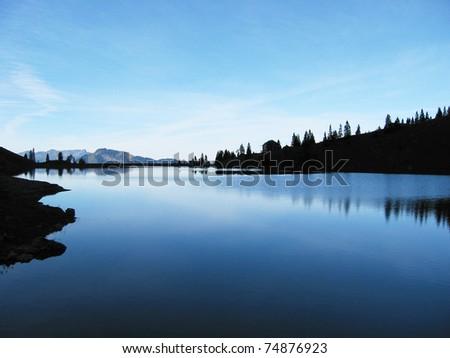 Bannalp lake, Switzerland - stock photo