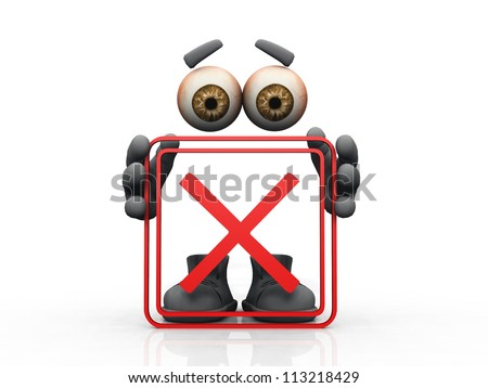 banned symbol on a white background - stock photo