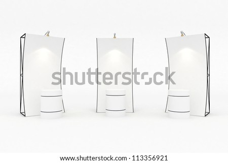 Banner blank trade show - stock photo