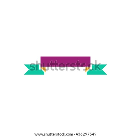 Banner. Color simple flat icon on white background - stock photo