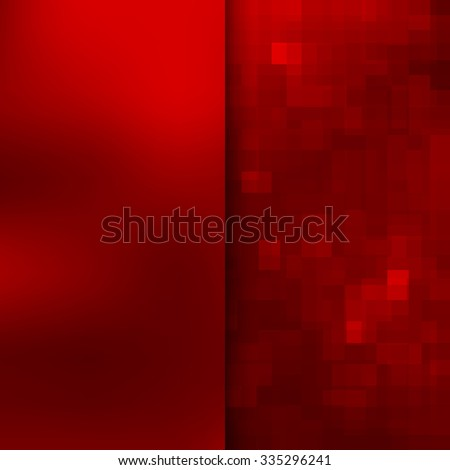 Banner design. Abstract template background with red square shapes - stock photo