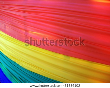 Banner hung along a fence for Gay Pride Week in Washington - stock photo