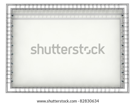 Banner On Truss System Stock Photo