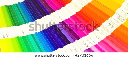 Banner pantone sample colors catalogue - stock photo