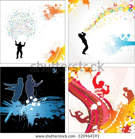 Banners for sports championships and concerts. Raster version - stock photo