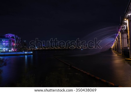 Banpo bridge. - stock photo