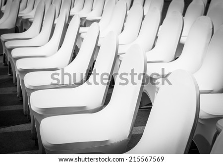 Banquet Chairs (back and white tone) - stock photo