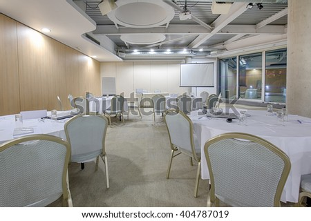 Banquet hall for business presentations