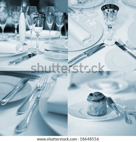 Banquet table mix - stock photo