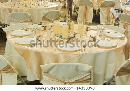 Banquet Table Setting - stock photo
