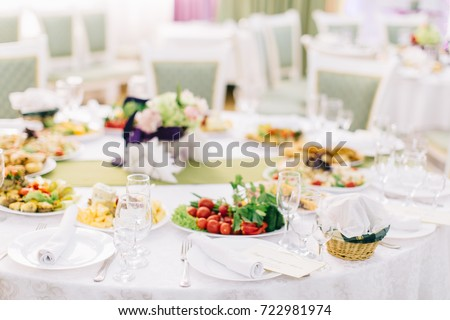 Banquet table setting. Catering table set. Elegance table set up. Decorated banquet table  sc 1 st  Shutterstock & Banquet Table Setting Catering Table Set Stock Photo (Edit Now ...