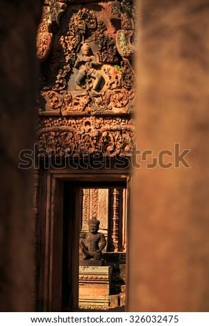 Banteay Srei - stock photo