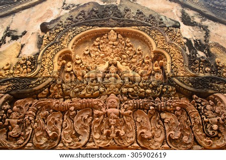 Banteay Srei, Angkor - stock photo