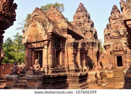 Banteay Srei , Seim Reap, Cambodia - stock photo