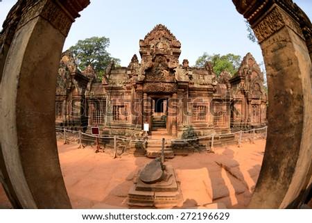 Banteay Srei Temple Siem Reap Province, Cambodia  - stock photo