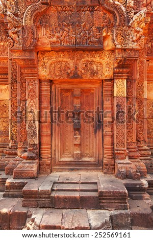Banteay Srei - 10th century Cambodian temple dedicated to the Hindu god Shiva