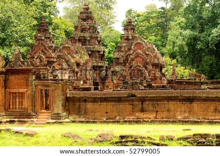 Banteay Srei Wat, Siem Reap, Cambodia - stock photo