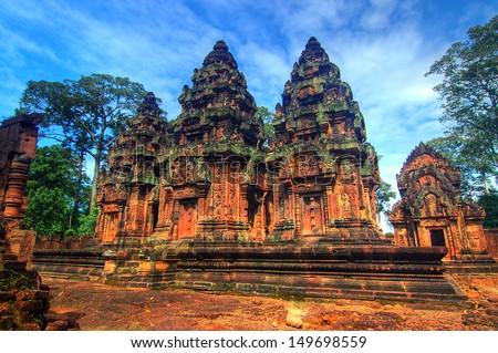 Banteay Srey, Siem Reap, Cambodia - stock photo