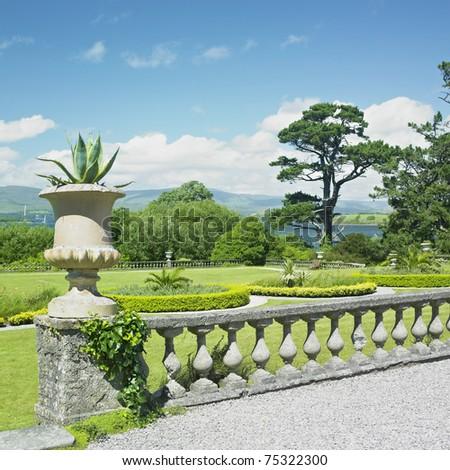 Bantry House Garden, County Cork, Ireland - stock photo
