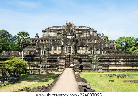 Baphuon, a temple at Angkor, Cambodia. Built as the state temple of Udayadityavarman II dedicated to the Hindu God Shiva.