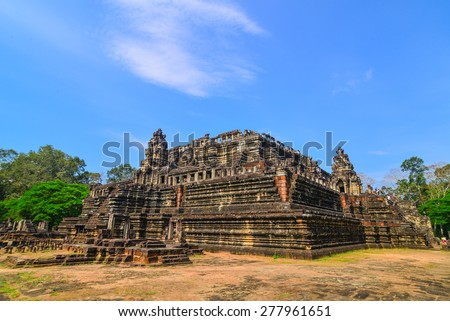 Baphuon temple at Angkor Wat complex, Siem Reap, Cambodia - stock photo