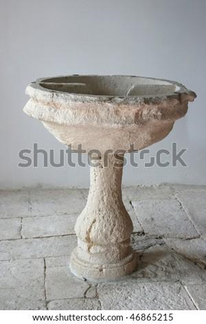 Baptismal font - stock photo