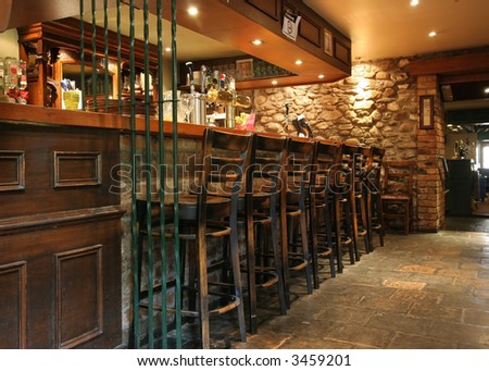 bar at old pub