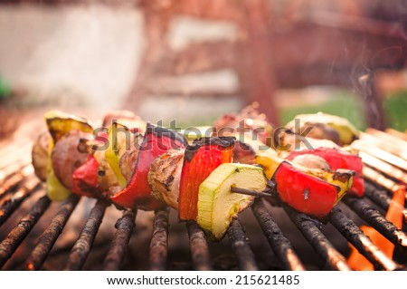 Bar-B-Q grill of meat - stock photo