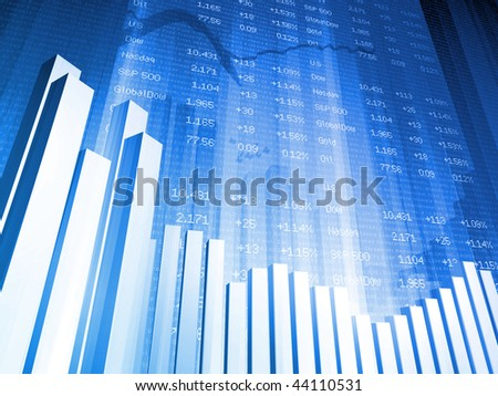 Bar Chart with Index - stock photo