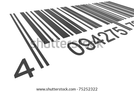 Bar Code. Closeup of a Bar Code