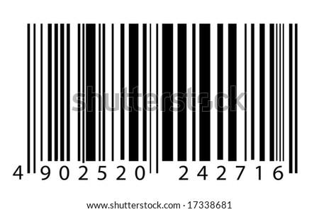 Bar code label - stock photo