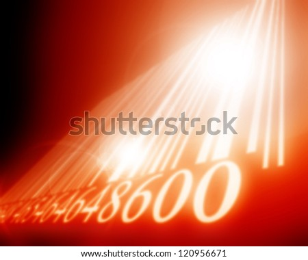 Bar code on a blurred background with some highlights - stock photo