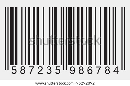Bar code on white background - stock photo