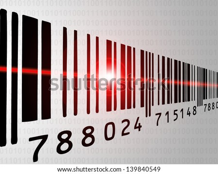 Bar code reader - stock photo