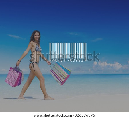 Bar Code Scanning Inventory Logistics Production Concept - stock photo
