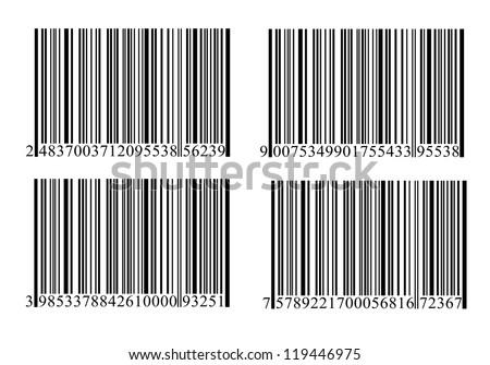 Bar-code set. - stock photo