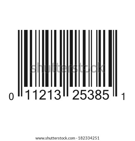 Bar code vector illustration isolated. (EPS vector version also available in portfolio) - stock photo