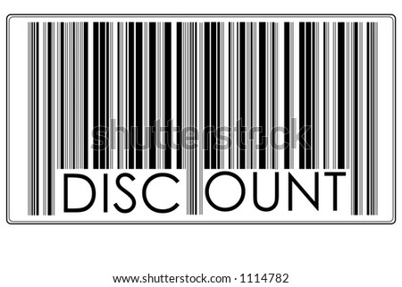 "Bar Code with text ""discount"" #3"