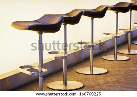bar counter at a modern restaurant - stock photo