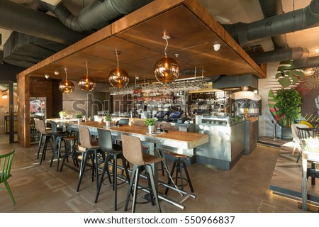 Bar Counter Restaurant Interior Stock Photo & Image (Royalty-Free ...