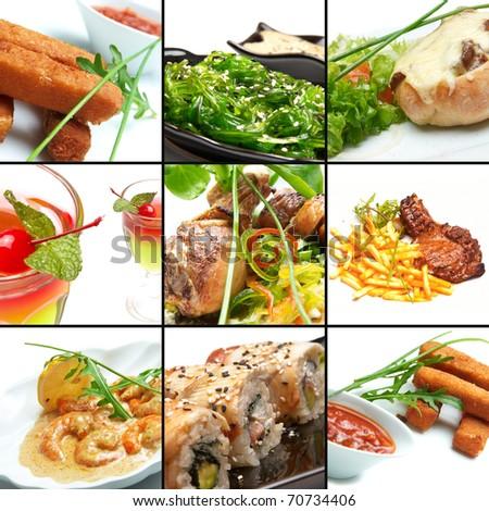 bar food - stock photo