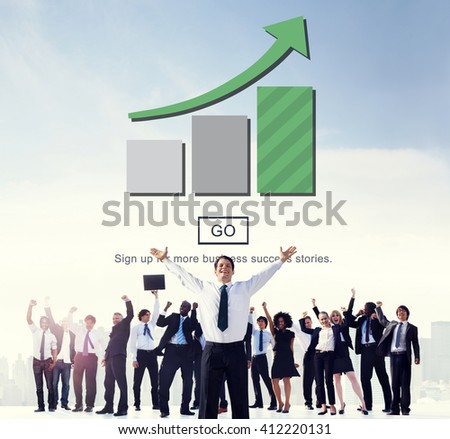 Bar Graph Analysis Increase Growth Concept - stock photo