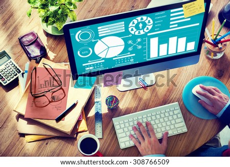 Bar Graph Chart Data Information Inforgraphic Report Concept - stock photo