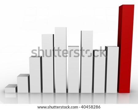 Bar graph - 3d image - stock photo