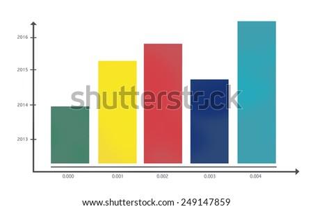 Bar Graph Growth Success Business  Statistics Concept - stock photo