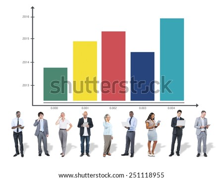 Bar Graph Growth Success Business  Statistics Concept