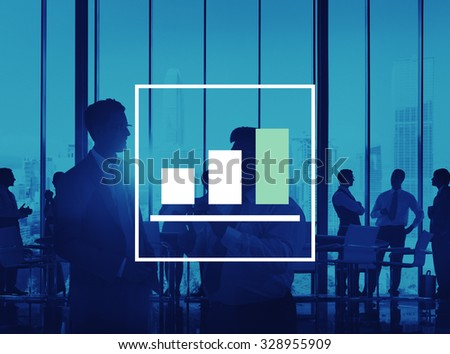Bar Graph Marketing Analyzing Growth Increase Concept - stock photo