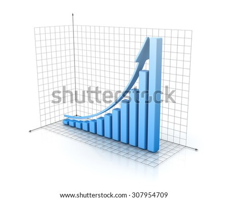 Bar Graph , This is a computer generated and 3d rendered picture.