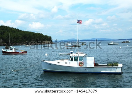 Lobster boat stock photos images pictures shutterstock for Boat fishing near me