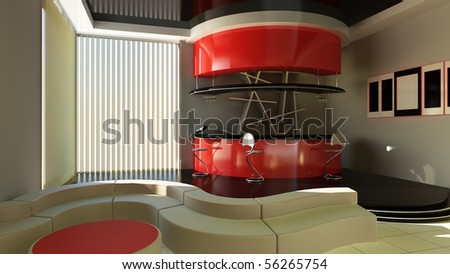 Bar interior - stock photo